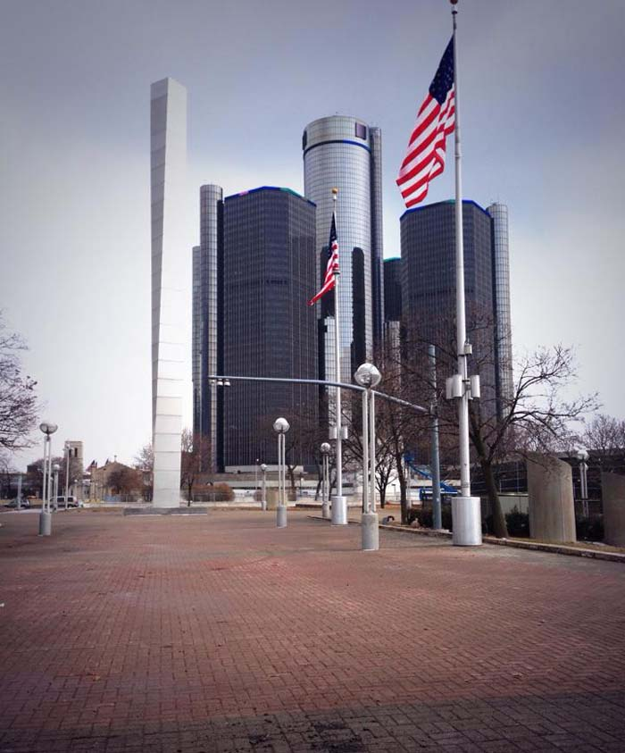 Revolution Flag Group raises flags in Detroit's Hart Plaza for the first time in 13 years